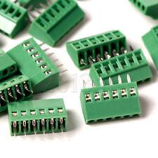 6-Pin 5PCS 2.54mm Pitch Panel PCB Mount Screw Terminal Block Connector CG