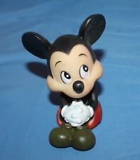 Vintage Disney Mickey Mouse Rubber Squeeze Toy Collectible Rare Brown Shoes