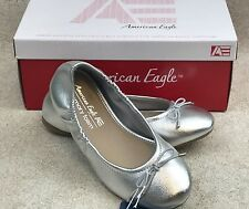 American Eagle Toddler Girls 12 Lolla Silver Ballet Slippers Flats New in Box