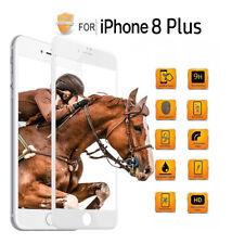 5D Panzerglas für iPhone 8 Plus 360° FULL SCREEN! Neueste Technologie! 9H, weiss