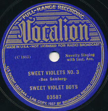 78 15BB - HILLBILLY (NOVELTY) - VOCALION 03587 - SWEET VIOLET BOYS