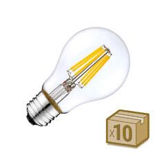 LEDBOX Pack 10 x Bombillas LED E27 COB filamento 8W  Blanco cálido 2700K