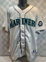 Vintage Ken GRIFFEY Jr Seattle Mariners Russell Authentic Baseball Jersey 52