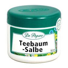 Teebaumöl Salbe Natur Originalkräutersalben des Dr. Popov 50ml