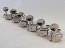 KLUSON Vintage NICKEL MACHINE HEADS Single Line Split Shaft Tuners SD9105MN