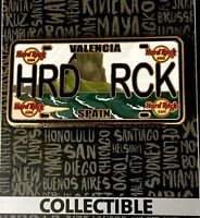 HARD ROCK CAFE VALENCIA - LICENSE PLATE - LIMITED EDITION HRC SERIE PIN on card