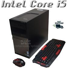 GAMING PC DELL DESKTOP COMPUTER INTEL I5 8GB RAM GTX 1050 ti SSD KEYBOARD MOUSE