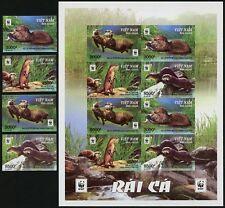 Vietnam 2016 WWF Otter Zwergotter Aonyx Cinerea 3717-3720 B Satz + KB Imperf MNH