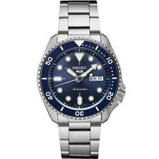 New Seiko 5 Automatic Blue Dial Steel Bracelet Men's Watch SRPD51