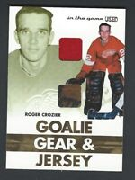 2003-04 In The Game Goalie Gear and Jersey ROGER CROZIER