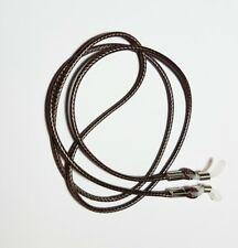 Brown waxed cord chain strap string lanyard lace reading eye-glasses spectacle c