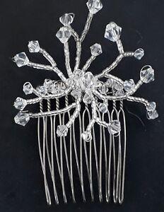 Lovely Swarovski crystal bridal wedding handmade comb 4cm