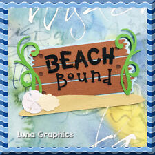 BEACH BOUND TITLE Embellishments Paper Piecing card making and scrapbooking