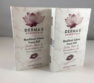 Derma-E 2~Radiant Glow Face Oil .13oz. Travel Samples New 🌹Carded Fast Shipping