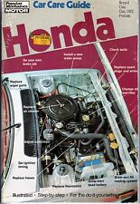 Honda Accord Civic & Civic CVCC Prelude 1975-81 Tune Up & Repair Guide