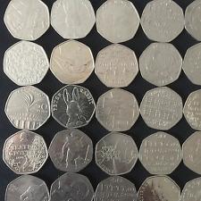 Job lot 50 pence Coins Rare 50p Bulk Collection Commemorative Olympic WWF Rabbit
