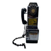 Automatic Electric Co. 3 SLOT ROTARY Chrome PAY PHONE W/O KEYS, Nice Relic *Read