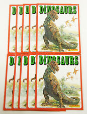 Lot of (10) Baio / Panini Dinosaurs Collectible Sticker Albums ^ No Stickers