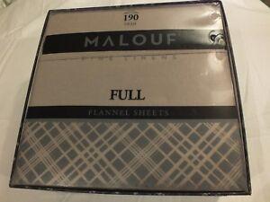 Malouf Flannel Sheet Set Full