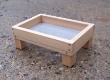 Small Size Cedar Ground Platform Bird Feeder  w/ Screen