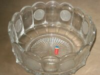 Fostoria Bowl, Coin Glass, Clear, Scalloped Edge, 7 3/8 inches  1372
