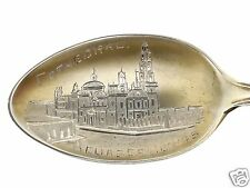 Antique P & B Mexican Cathedral Agua Calientes Sterling Silver Souvenir Spoon SL