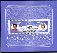 MONTSERRAT 1981 ROYAL WEDDING $5 SOUVENIR SHEET MNH