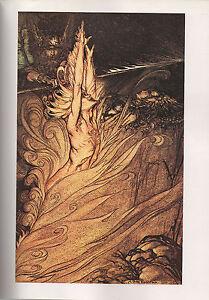 Arthur Rackham Print  - The Rhinegold and the Valkyrie