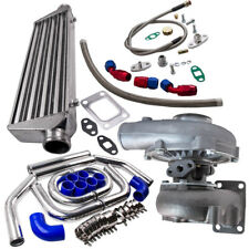 TURBO TURBOCHARGER T3/T4 T04E 63 A/R +Oil Line+Intercooler +Piping Pipe Kits