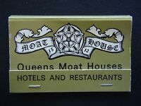 QUEENS MOAT HOUSES HOTELS AND RESTAURANTS THE SIGN OF COURTESY MATCHBOOK