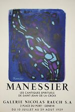 MANESSIER Alfred - Affiche originale - Les cantiques spirituels