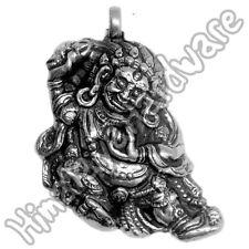 Silver Vajrapani Pendant .925 Sterling Buddhist Buddha Vajrasattva Tibet Tibetan