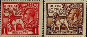 GB British Empire Exhibition 1924 1d and 1½d SG 430 - 431 ** MNH (002843)