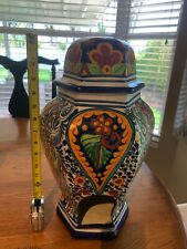 Talavera pottery bird feeder bird house hanging 8�w x 16� high Rare