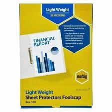 Marbig Sheet Protectors Foolscap Economy Pack 100 25155