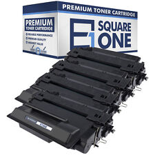 eSquareOne High Yield Toner Cartridge Replacement for HP 55X CE255X (4-Pack)