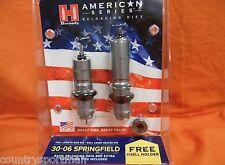 HORNADY 30-06 Springfield American Series w/ Shellholder #1; 2 Die Set #486340