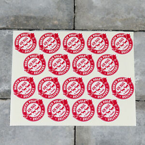 18 x Santas North Pole Delivery Christmas Present Stickers - SKU5200