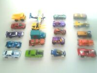 20 Mixed Lot of Die Cast Hot Wheels, Matchbox, Johnny Lightning & Maisto