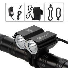 SolarStorm 2x Bulb XML U2 LED Bike Bicycle HeadLamp Light +4x 18650+Charger SET