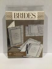 Elegant & Classic 40 Count Brown & Ivory Wedding Event Invitation Kit by Brides