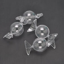 12Pcs Clear Plastic Candy Shaped Gift Boxes Chocolate Sweet Wedding Favor Case