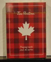 2019 Limited Edition Tim Hortons Factory Sealed Plaid Playing Cards