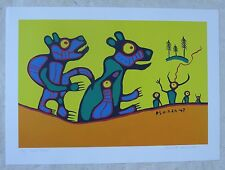 NORVAL MORRISSEAU Canadian First Nations Artist  Hand Signed LEP