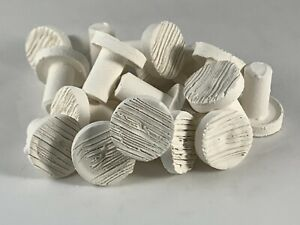 "1000 - 3/4""  SCRAPED CERAMIC FRAG PLUGS TO PROPOGATE CORAL FIT LOCKING FRAG RACK"