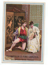 1890s Trade Card for Thompson's Candies Oakland CA with Price List