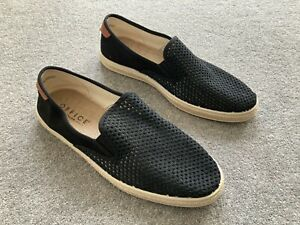 Mens Black Weave Casual Slip On Shoes From OFFICE - Size 10