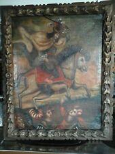 Antik Ölgemälde Gemälde Ölmalerei Bild Südamerika Peru Cusco School 18/19Jh.