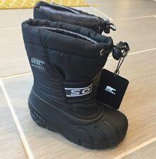 NEW Sorel Childrens Cub Snow Boots Black Size 10 EUR27