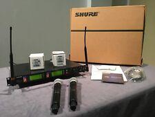 Shure UR4D+H4 Dual CH Wireless Microphone 518-578 MHz w/2 UR2 SM58 Handhelds